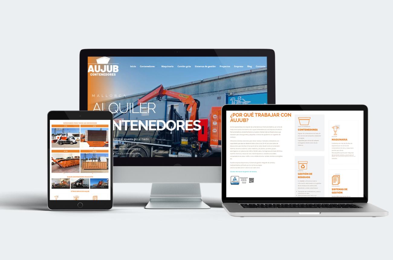 Nuevo sitio web AUJUB CONTENEDORES
